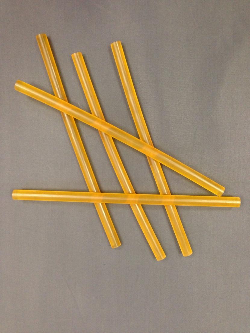 Кератиновые палочки Racoon прозрачно-желтые для наращивания волос клеевым пистолетом