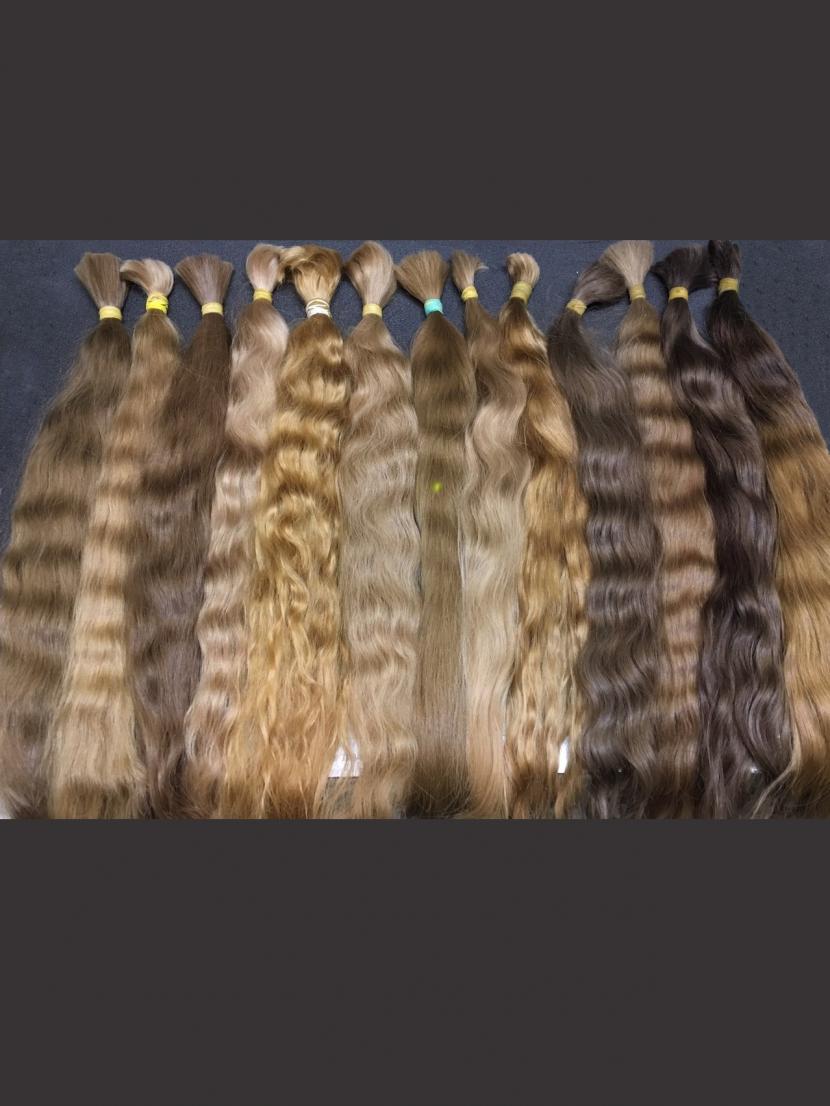 Волосы волнистые славянские золотистых оттенков 60-80см