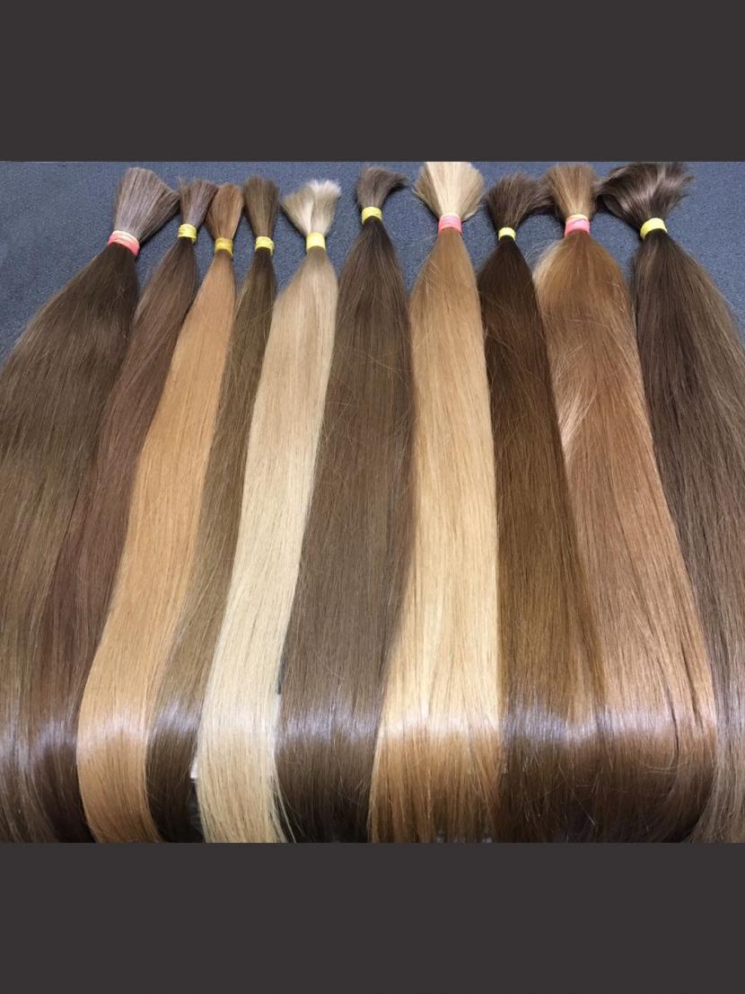 Волосы прямые славянские золотистых оттенков 60-80см