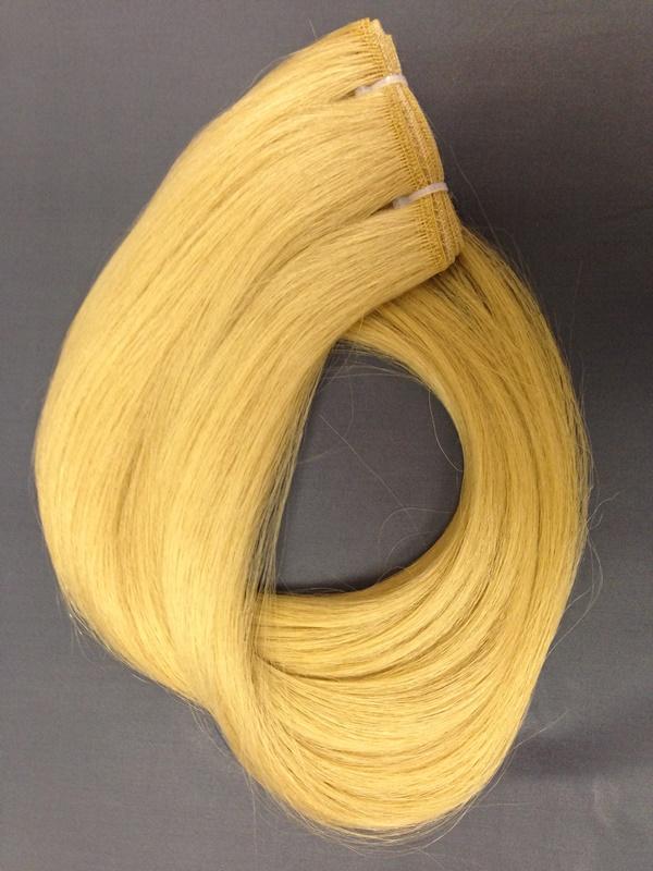Тресс из натуральных волос светлый