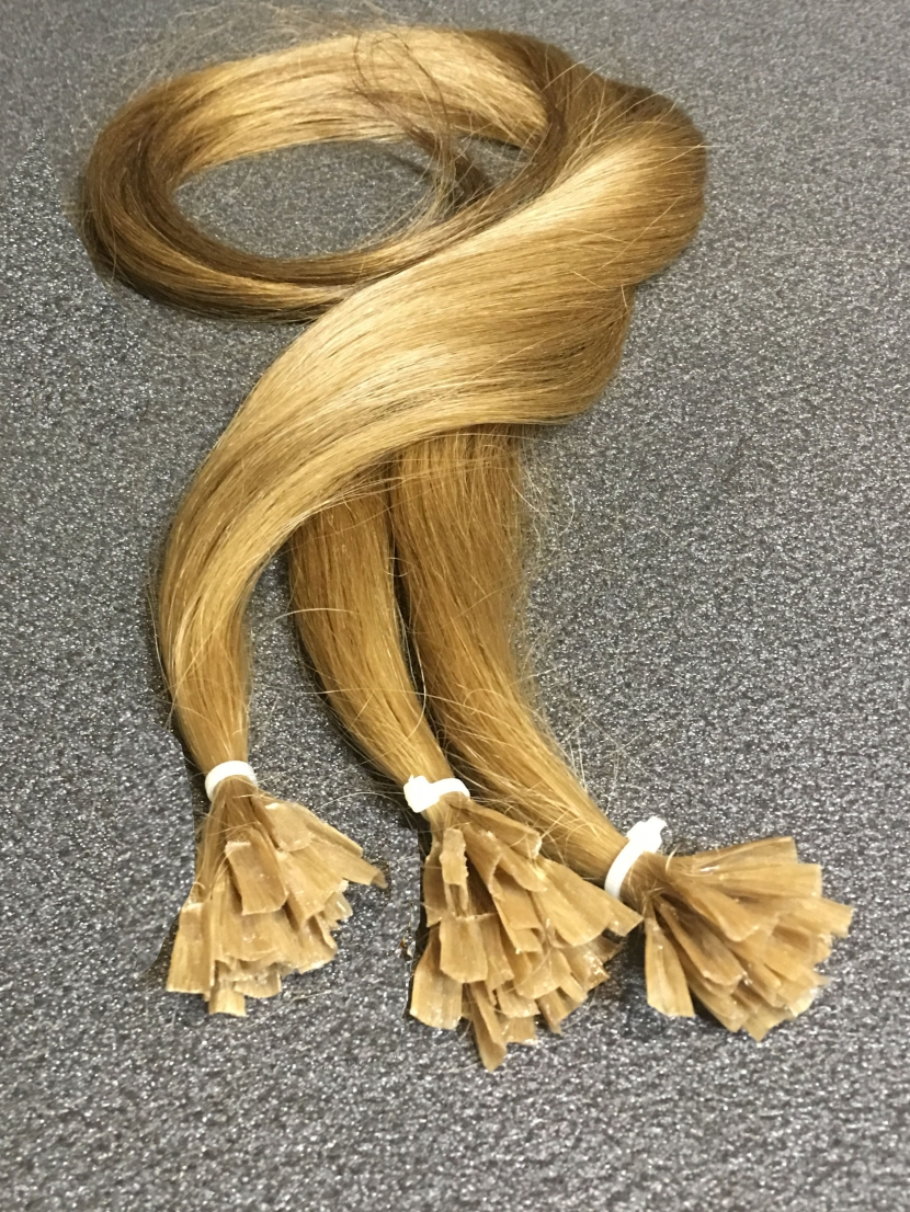 Волосы натуральные на капсулах русые