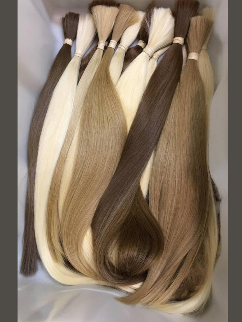 Волосы натуральные окрашенные по щадящей технологии  длина 71-90 см