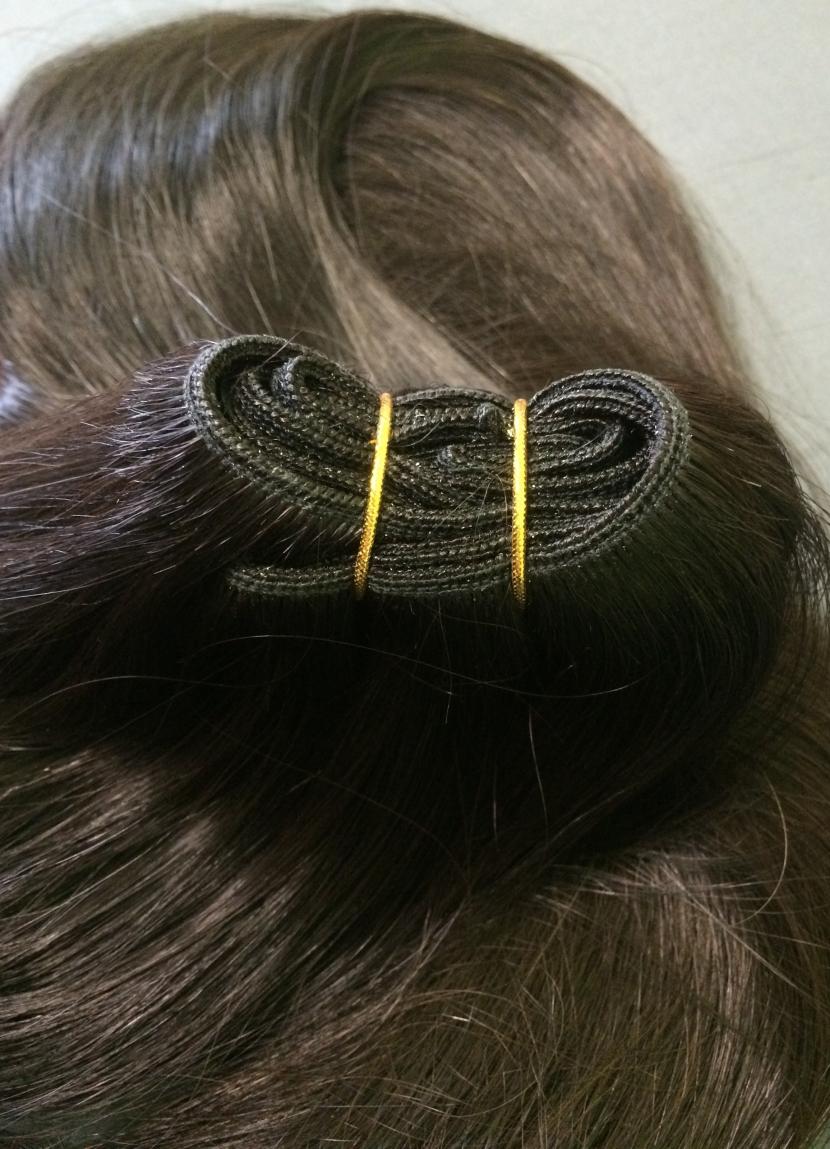 Натуральные славянские волосы на трессе темные